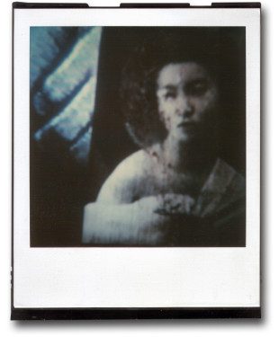 André Werner, A Geisha (blue), SX70, polaroid, ca. 1992
