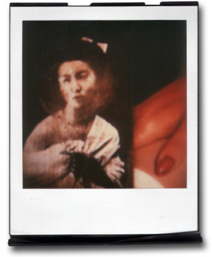 André Werner, A Geisha (red I), SX70, polaroid, ca. 1992