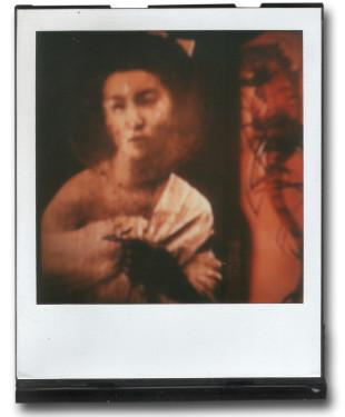André Werner, A Geisha (red II), SX70, polaroid, ca. 1992