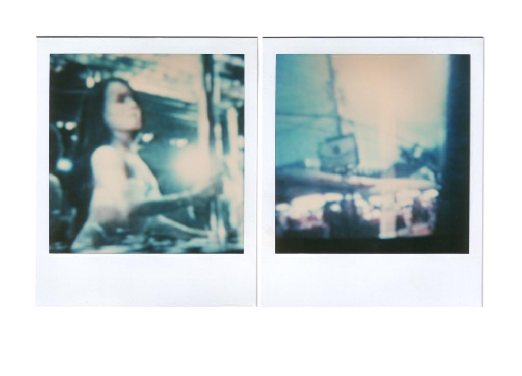 André Werner, untitled (cold city) diptych, polaroid SX 70, 1989, 17,6 cm × 10,7 cm | 7″ x 4,2″ (images 7,9 cm × 7,9 cm | 3,1″ x 3,1″)