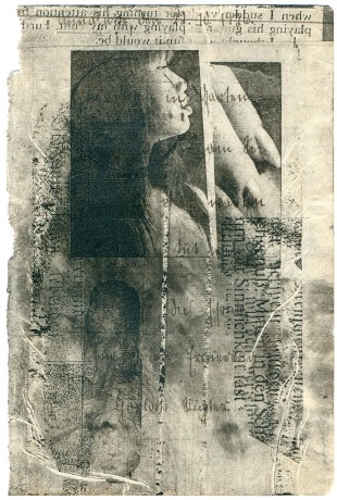 untitled, duplicate copies on page from an album of aphorisms (1926), 19,5 x 12,7 cm, 7.5×5 inches, 1991