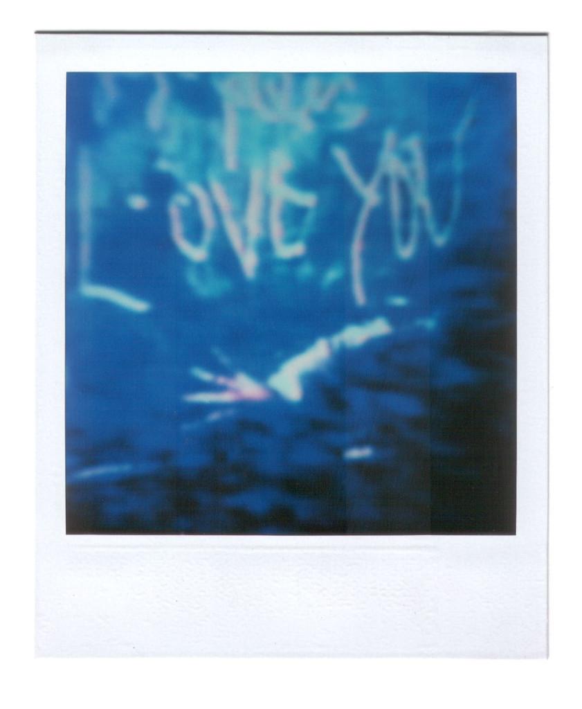 André Werner, Love You, polaroid SX 70, ca. 1987, 8,8 cm × 10,7 cm | 3,5″ x 4,2″ (image 7,9 cm × 7,9 cm | 3,1″ x 3,1″)