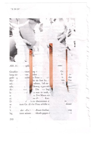 André Werner, untitled, collage on page, ca. 1990, 14,8 x 21,9 cm,  5,8 x 8,6 inches