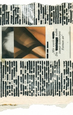 André Werner, untitled, collage, marker on newspaper, Aug. 1990