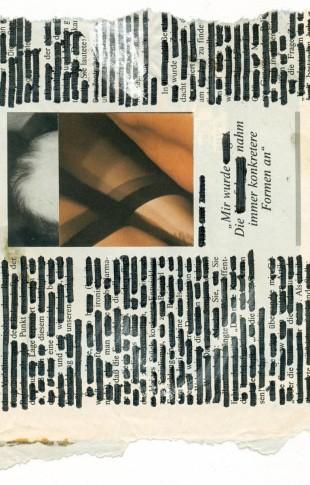 André Werner, untitled, collage, marker on newspaper, Aug. 1990