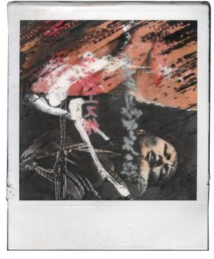 André Werner, polaroid montage, 1988