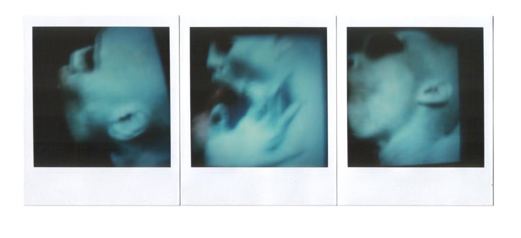André Werner, Skin Deep, polaroid SX70 tryptich, ca.1988, 26,4 cm × 10,7 cm | 10,5″ x 4,2″ (image 7,9 cm × 7,9 cm | 3,1″ x 3,1″)
