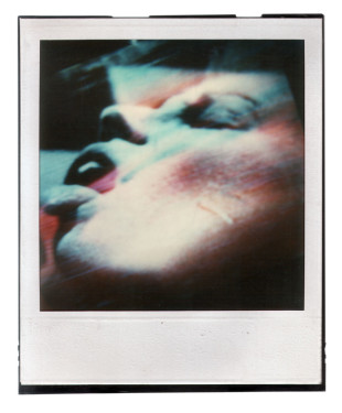 untitled (faces) I, polaroid SX 70, 1986