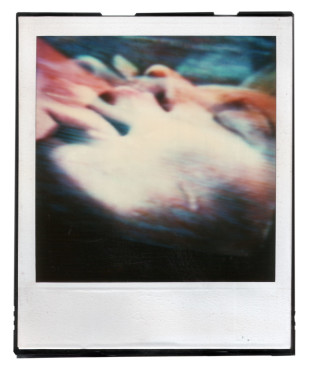 untitled (faces) II, polaroid SX 70, 1986