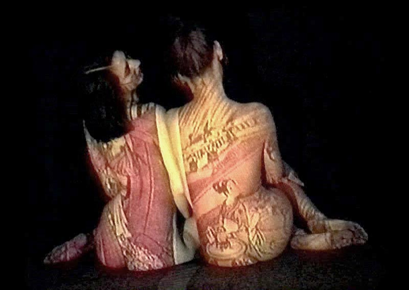 Tattoos | André Werner, Pearls of the morning dawn, video installation, single channel, looped 1993