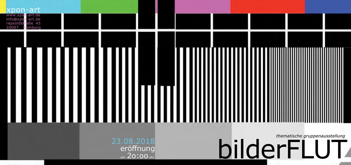 Die Sitte des Bilderfressens (The Custom Of Eating Pictures) by André Werner and Cosima Reif shown as part of bilderFLUT at xpon-art, Hamburg.