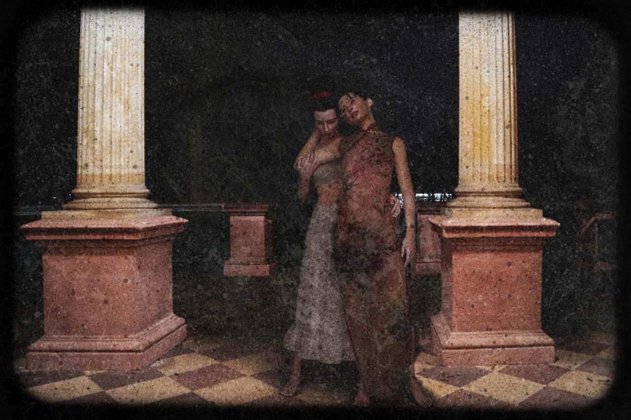 Sehnsucht nach dem JETZT: Felina Schrödinger in company , Autochrome, undated. courtesy Collection Claire Castelle.
