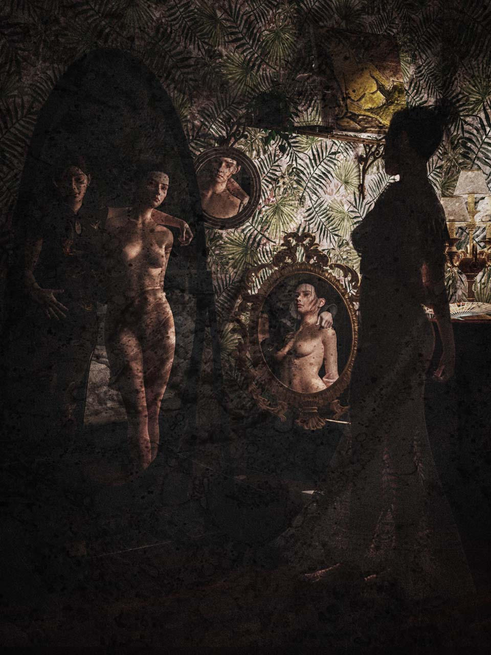 Felina Schrödinger, Selbstportrait, Autochrome, undatiert. Courtesy Collection Claire Castelle.